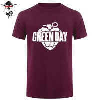Green Day Printed Men T Shirt Fashion Summer New Arrival Short Sleeve O Neck Cotton Hip