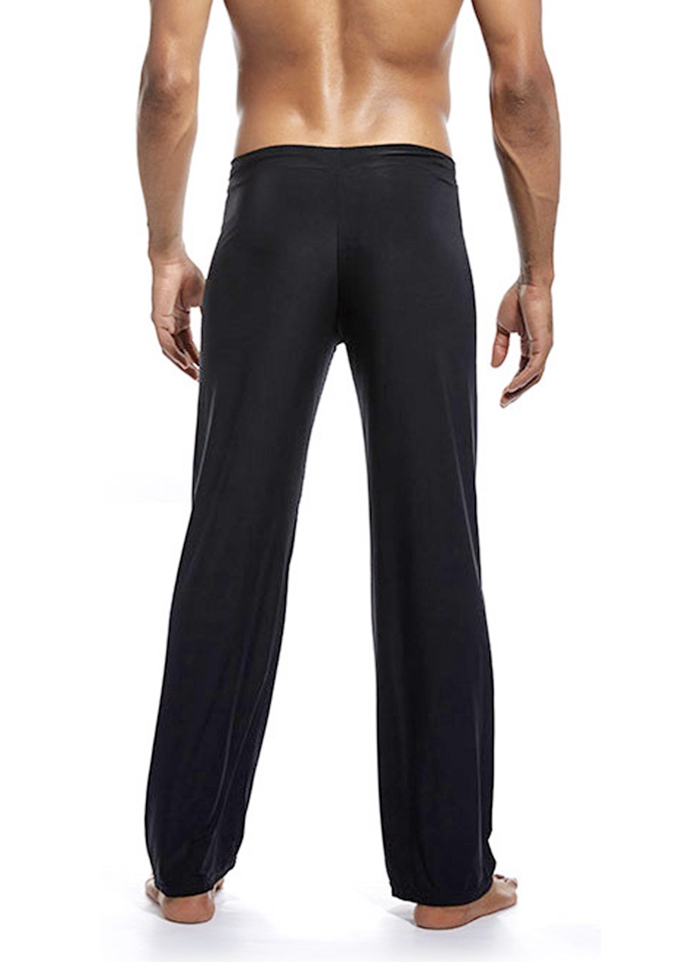 Nylon Yoga Pants Men Straight Fitness Breathable Yoga Pants Men's Casual Solid Loose Sweatpants Trousers Jogger Pant