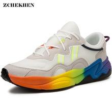 Hip Hop Men Chunky Sneakers Suede Casual Shoes Tenis Sapato Masculino 800 High Platform Basket Man Walking