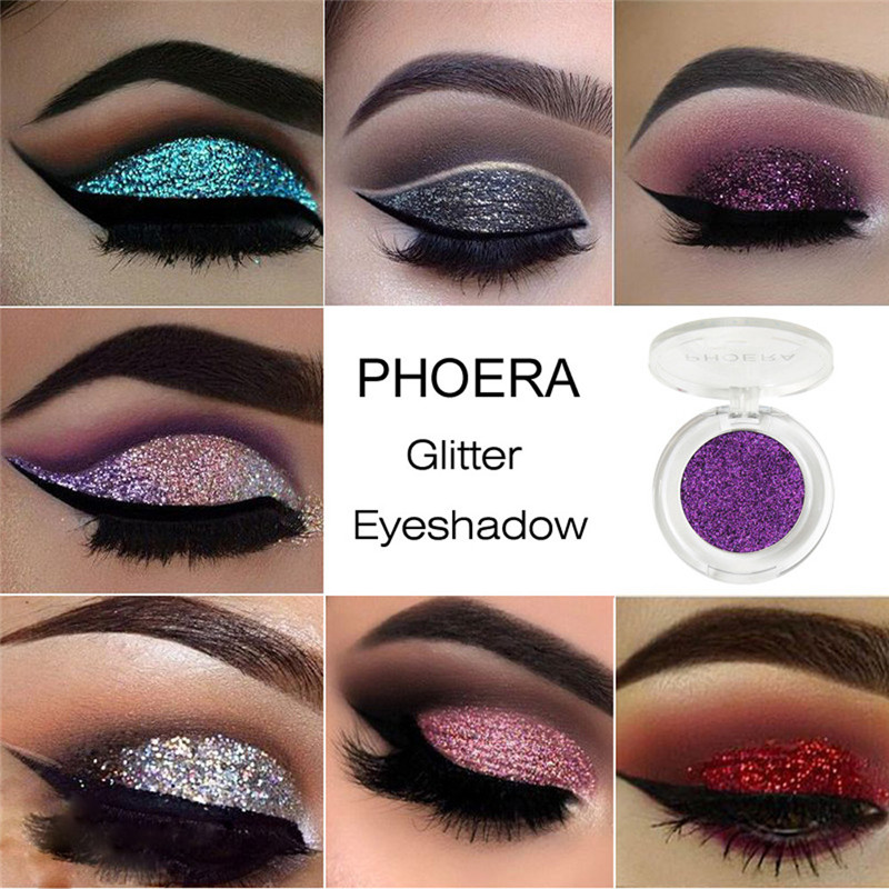 Sporting Phoera Glitter Shimmering Colors Eyeshadow Metallic Eye Cosmetic Metallic Eyeshadow Maquillaje Glitter Eyeshadow #61920 Without Return Beauty & Health Beauty Essentials