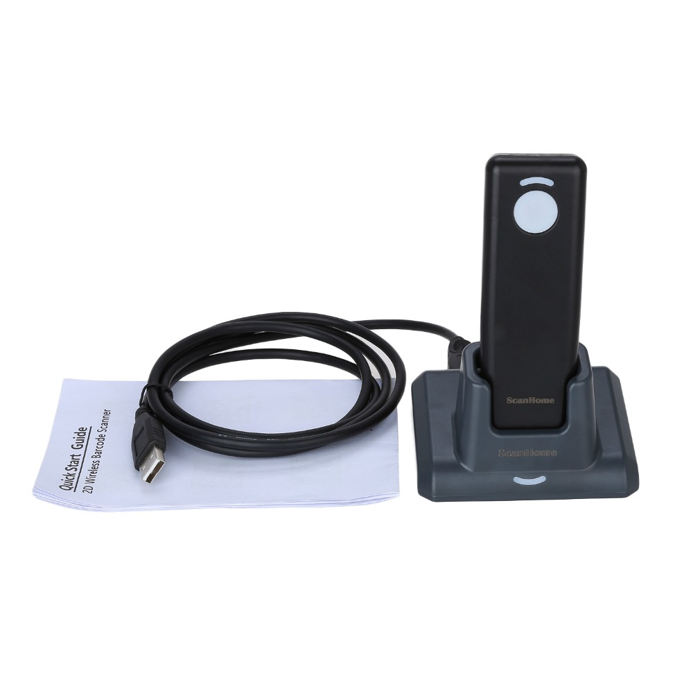 цена New waterproof handheld Bluetooth Wireless 2D Barcode Scanner fast scanning QR Barcode Reader PDF417