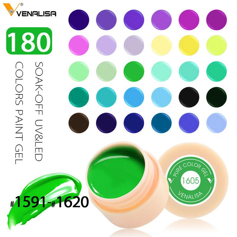 Venalisa CANNI Nail Art  Wholesale High Quality Soak Off 180 Colors Gel UV/LED 2 in 1 Gel Paint Design Color Lacquer Nail Polish