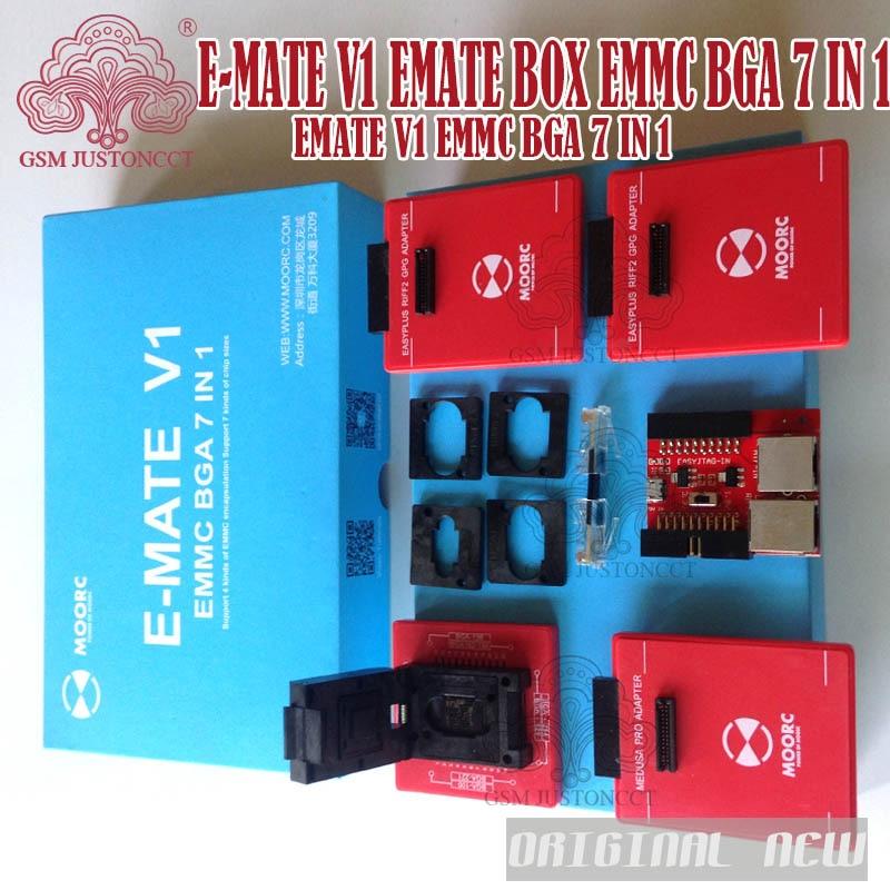 NEW E-MATE V1 TOOL SET Emate pro box SET EMMC BGA 7 IN 1 SET Support 4 kinds of EMMC encapsulation Support 7 kinds of chipsNEW E-MATE V1 TOOL SET Emate pro box SET EMMC BGA 7 IN 1 SET Support 4 kinds of EMMC encapsulation Support 7 kinds of chips