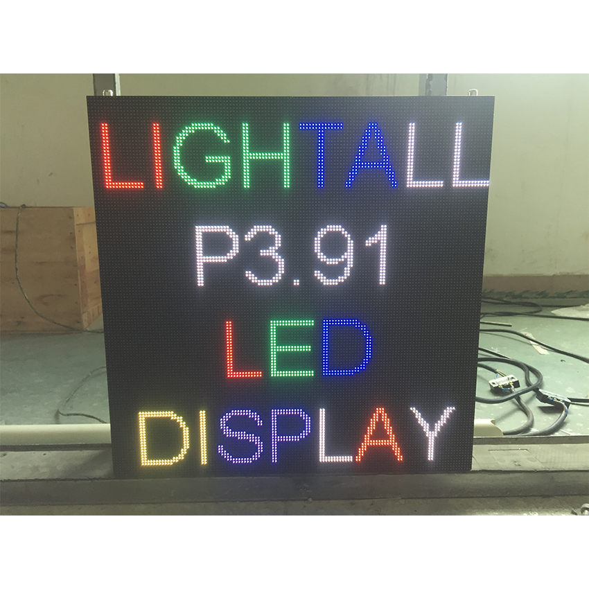 Outdoor Led Screen P3.91 SMD1921 500x500mm Die Cast Aluminum Cabinet 128*128dots RGB For LED Display Advertising Panel