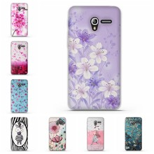 3D Relief Capa Abdeckung Fall Für Alcatel One Touch Pixi 3 4,0 zoll Soft Cover TPU Coque Für Alcatel One touch Pixi 3 Stoßstange Fall(China)