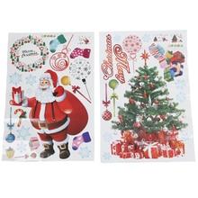 THGS Christmas Wall Sticker DIY Santa Claus Xmas Tree Window Home Decoration