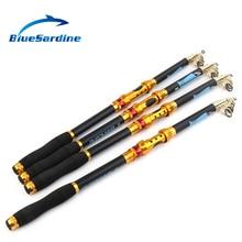 BlueSardine Spinning Fishing Rod Carbon Telescopic Hard Sea Rod Fishing Tackle 2.1M 2.4M 2.7M 3.0M 3.6M