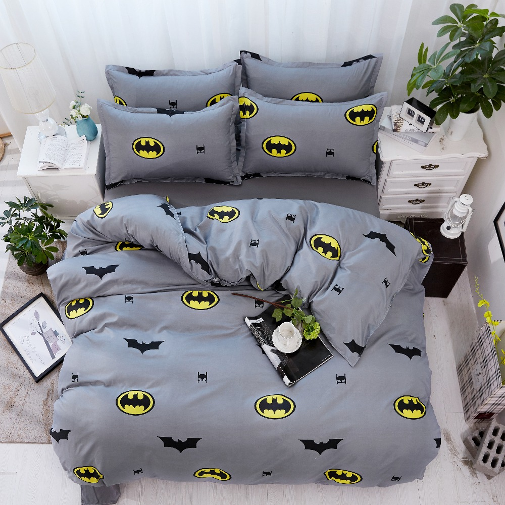 Us 28 5 43 Off Direct Selling Batman Bedding Set Twin Full Queen King Size Cartoon People Lovely Boy Printing Duvet Cover Home Bedclothes In Bedding