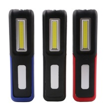 Rechargeable USB LED Flashlight Torch Work Light Stand COB lanterna Magnetic HOOK 18650 Battery Flashlights
