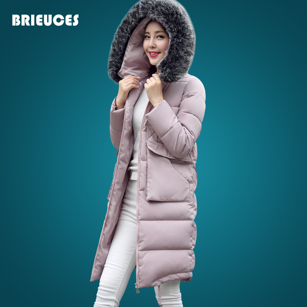 ФОТО Winter jacket women 2016 new fashion plus size long fur hood parkas for womens winter jacket and coats women plus size feminina