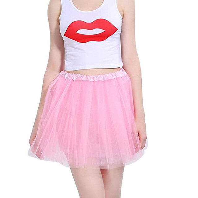 Mother and daughter Skirt Rainbow Tulle Skirt Carnival Petticoat Mesh Mini Tutu Skirts Candy Color Kinderfasching Faschingsparty 5