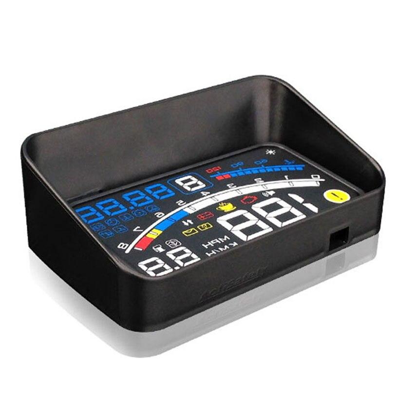 ActiSafety 2017 HUD Head up Voiture Projecteur Car Styling Lecteur Vitesse Auto-adaptatif De Voiture Carburant etc Paramètre D'affichage D'alarme système - 5
