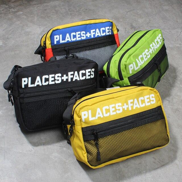 af8a2cd22adc 18ss women bags PLACES+FACES Pouch Bag 3M Reflective men canvas streetwear hip  hop pf