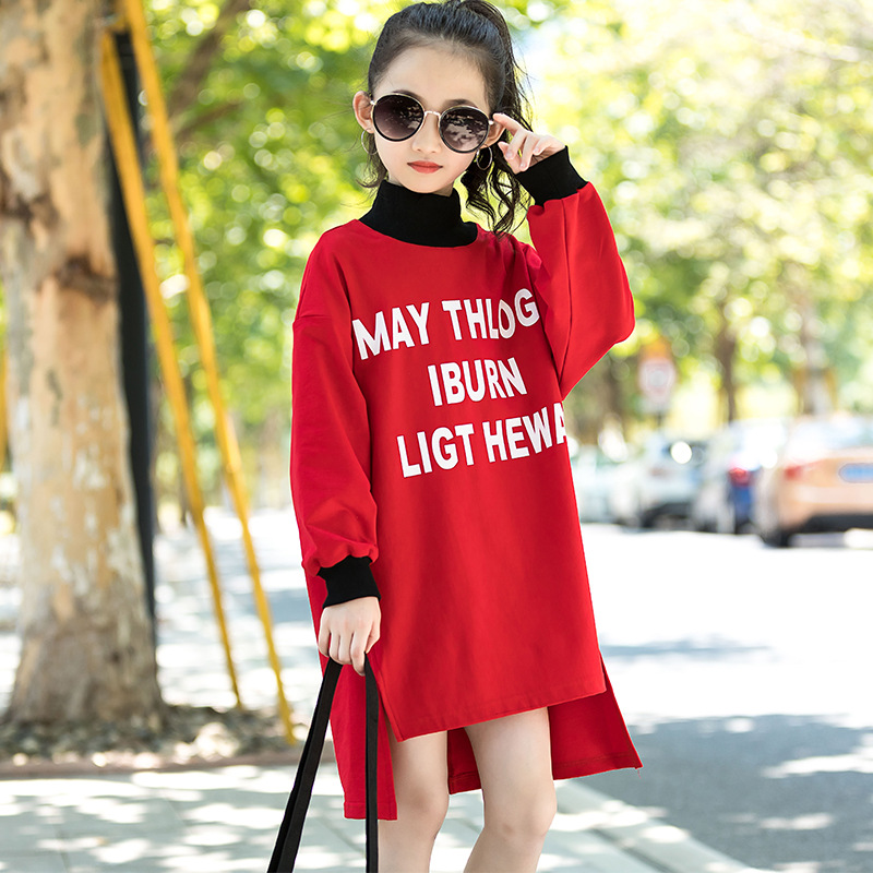 kids hoodies girls sweatshirt tops autumn 2018 fashion children long sweatshirts dress girl fall outfits hoodie teen clothes luoyamy 2018 autumn winter cartoon letter embroidery sweatshirt girl fashion long hoodie dress pullover moletom feminina