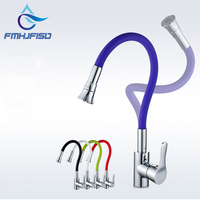 Multi Color Kitchen Faucet Universal Direction Single Handle Mixer Faucet Cold And Hot Water Tap