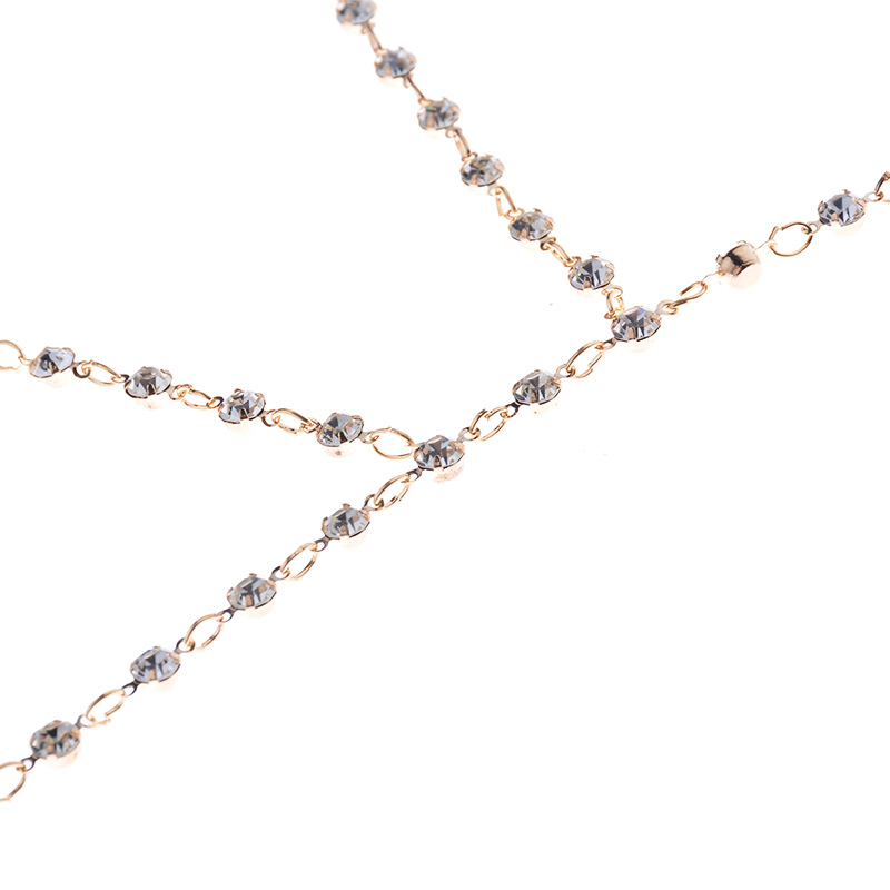 HTB1TFjARXXXXXcgXpXXq6xXFXXXB Faux Crystal Encrusted Bikini Chain Bra