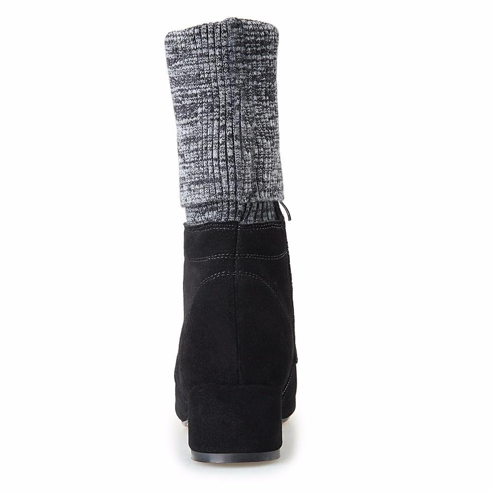Extensible Vache Chaussettes 4 Femme mollet Bottes single Pour Chaussures Mi Inside Med Tissu Fur Furtado Femmes Inside Suede Arden Cm 2017 Mode Marque Talons UYwHEUzq