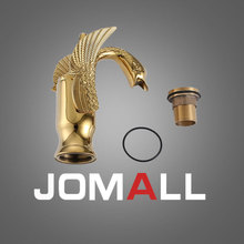 цена на Brass Valve Accessories  Single Handle  Gold Bird  Faucet Bathroom Basin Lavatory Vessel Sink Mixer Tap Hot Cold Water