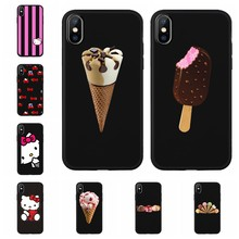 Nettes Hallo kitty Handy Fall Abdeckung Für iphone 7X7 plus 6 6S 8 8plus X XR XS MAX Weiche Silikon TPU Coque Z635(China)
