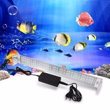 US EU Plug Aquarium Fish Tank Light 99 LED Lighting Lamp 33W Underwater Submersible Fishbowl Plant Grow Lights Aquarium Lighting(China)