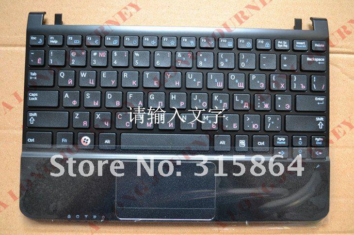 Russian RU laptop Keyboard for SAMSUNG NC110 NC210 NC215 Black and White  with speaker and touchpad  black free shipping new russia white laptop keyboard for msi wind u130 u135 u135dx u160 u160dx ru white frame laptop keyboard