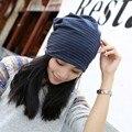 Women Cotton Striped Hats Spring Autumn Hats Headwear stretchable cap Elegant modern style