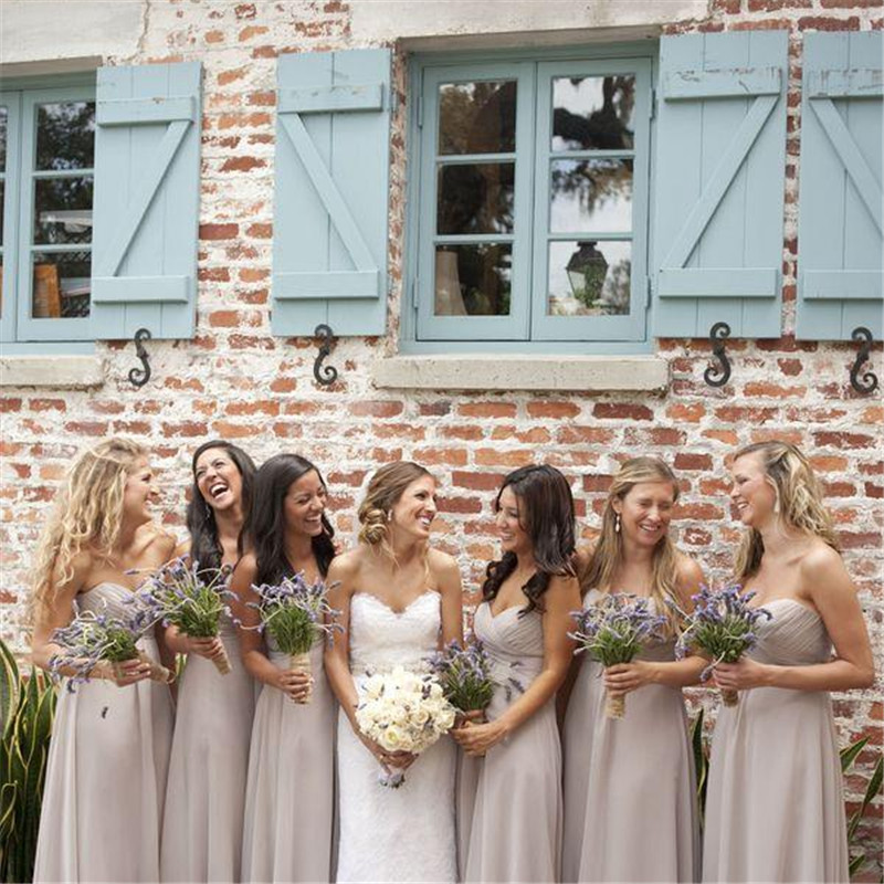 Light Colored Bridesmaid Dresses