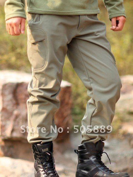 TAD Shark Skin Soft Shell PantsMens Outdoor Camping Clothes Waterproof Zipper Fleece Pants Trousers 4 Colors In Mens Costumes From Novelty Special Use