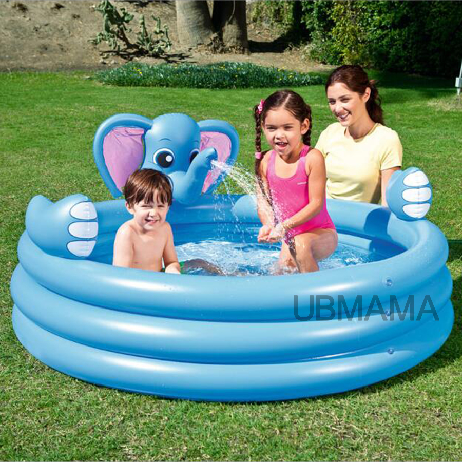 Multi-Function Lovely Elephant Children Inflatable Swimming Water Pool Family Home Playground  Pool piscina bebe zwembad inflatable slide with pool children size inflatable indoor outdoor bouncy jumper playground inflatable water slide for sale