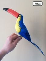 new creative simulation blue big mouth bird model polyethylene&furs Toucan toy gift about 42cm xf0355