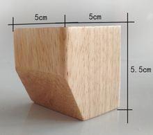 4 шт/лот высота: 55 см квадратная стопа из твердой древесины