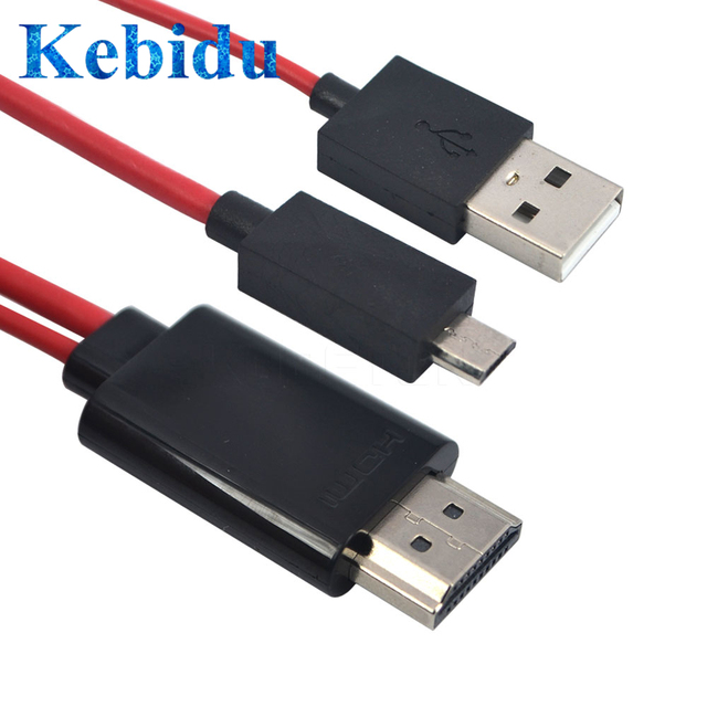 Kebidu מיקרו USB לכבל HDMI 1080 P מלא HD עבור MHL פלט אודיו מתאם HDTV מתאם 5Pin 11pin עבור סמסונג גלקסי S2 S3 S4 S5