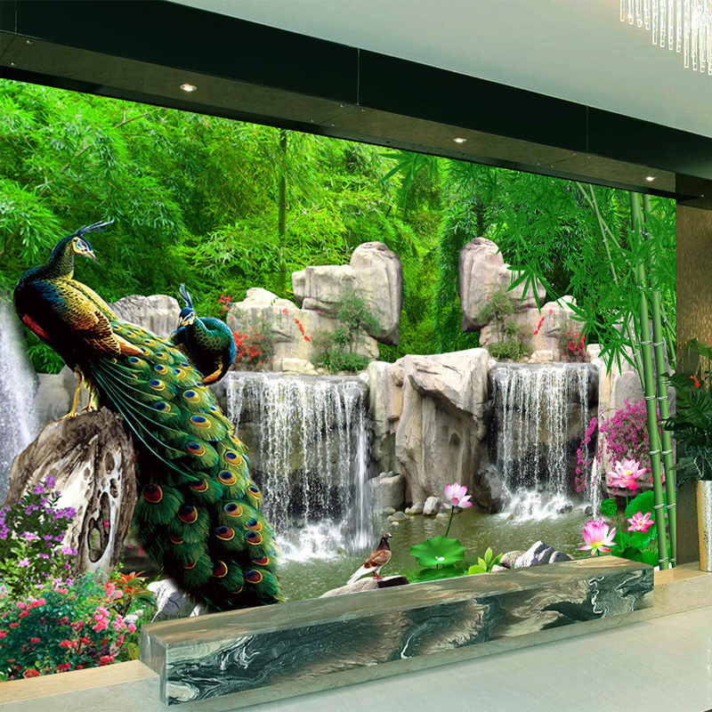 Online get cheap chinese design wallpaper for Designer mural wallpaper