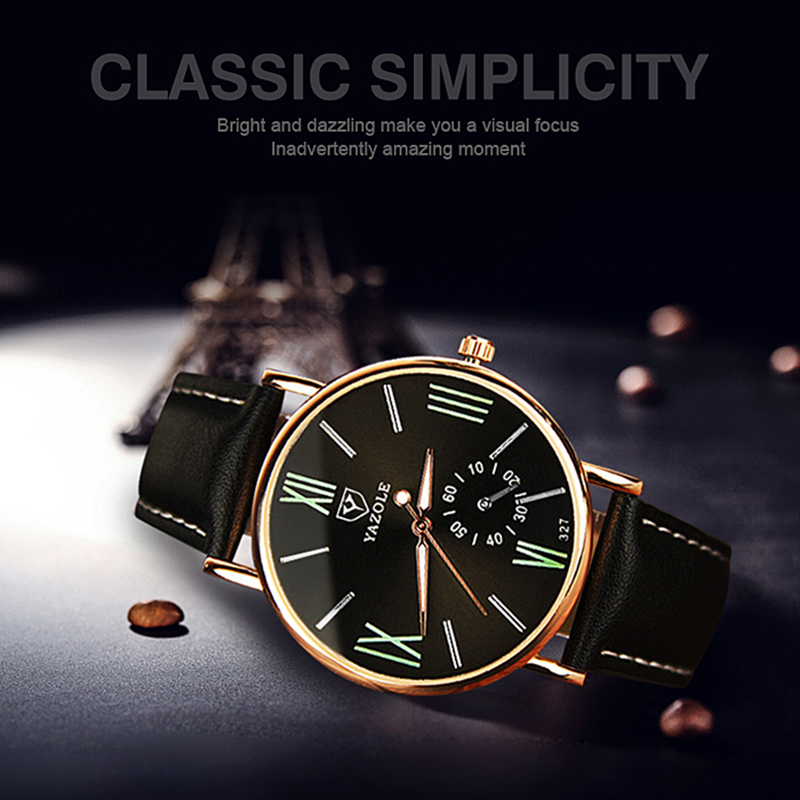 YAZOLE Classic Simplicity Men's Watches Luxury Leather Women's Watch Top Brand Couple Watch Ladies Connect Clock Sevgili Saati