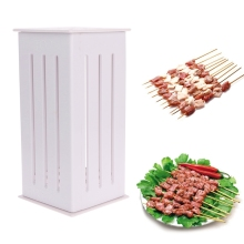 SKYMEN High Quality BBQ Kabob Maker Box 16 Holes Meat Skewer Kebab Machine Food Slicer Processor Barbecue Tool Kitchen Accessory
