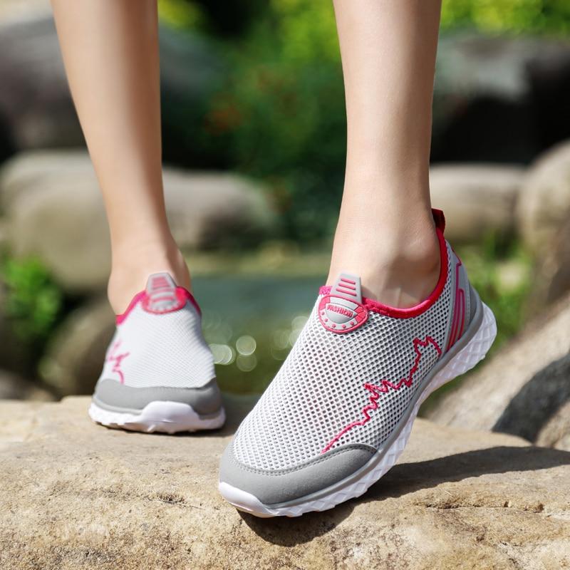 MAISMODA Summer Outdoor Shoes Men Women Lightweight Breathable Mesh Creek Beach Quick Dry Wading Upstream Fishing Net Water Shoe 23