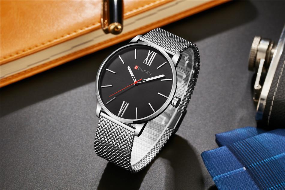 HTB1TFkYRXXXXXbVXFXXq6xXFXXXE - CURREN Luxury Stainless Steel Business Watch for Men