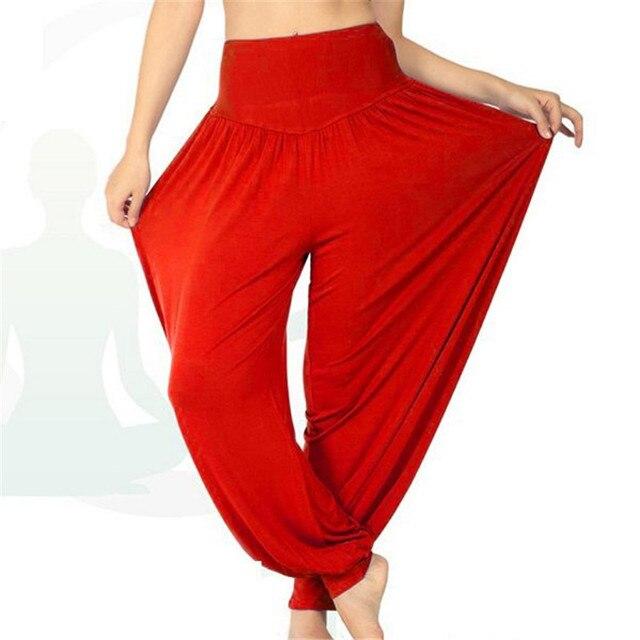 Women Long Pants Harem Modal Dancing Trouses Wide Belly Dance Comfy Boho   Fitness Harem Pants JH651417