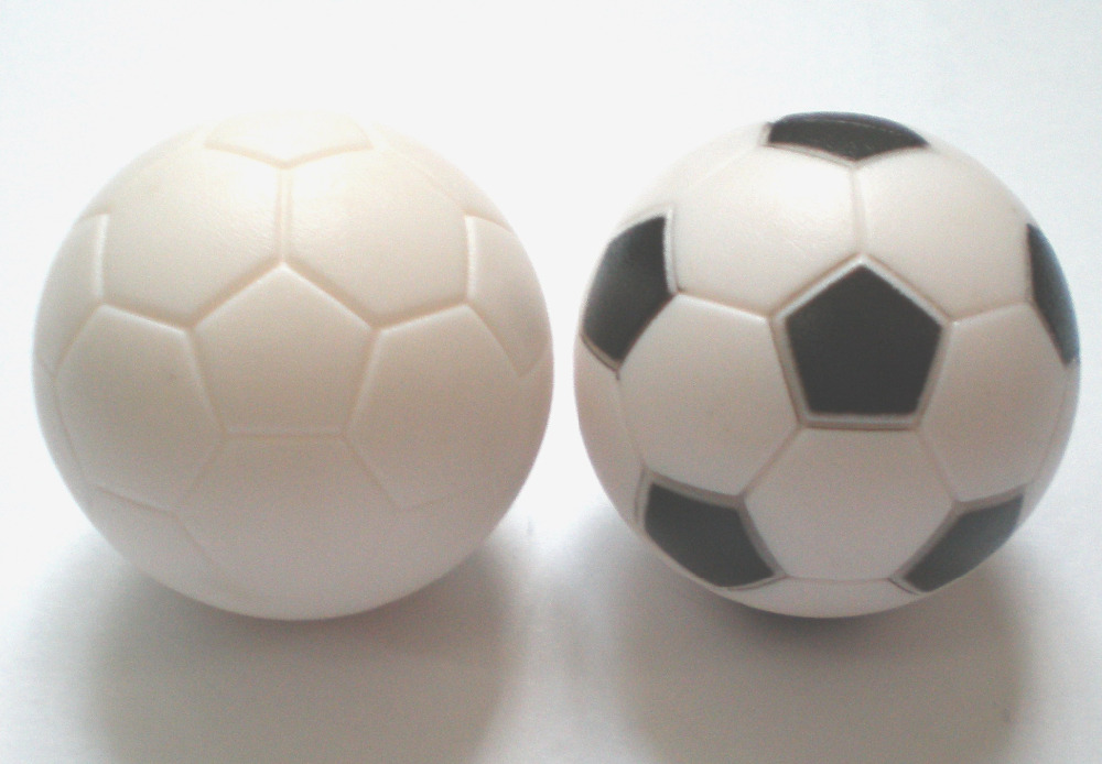 Free shipping 100pcs lot NEW 36mm pure WHITE Foosball table soccer table ball football balls baby