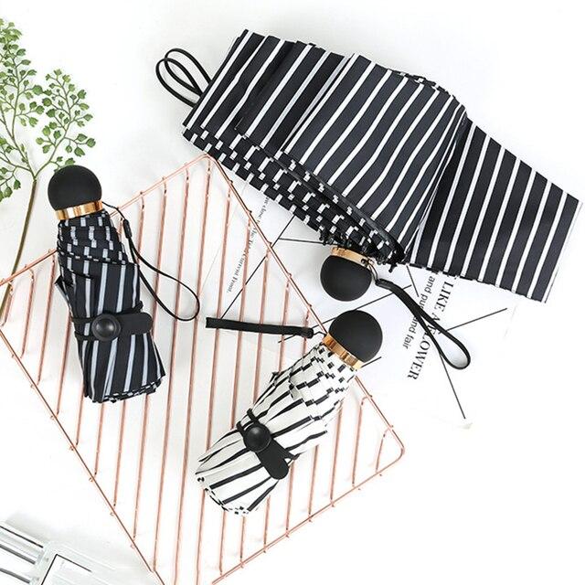 Новый маленький модный 5 складной зонтик для дождя, подарок для женщин и мужчин, мини Карманный Зонтик для девочек, водонепроницаемый портативный зонтик для путешествий