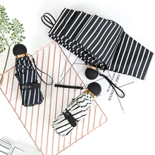 New Small Fashion 5 Folding Umbrella Rain Women Gift Men Mini Pocket P