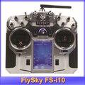 """Бесплатная доставка! 2014 Новая Версия FlySky FS-i10 2.4 Г Digital Пропорциональный 10 Каналов Передатчика и Приемника с 3.55 """"TFT экран"""