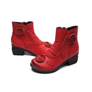 Image 4 - BEYARNE artı Size35 42NEW sonbahar kış kadın çizmeler yan fermuar kalın topuk çizmeler ayakkabı kadın, ayak bileği Mar çizmeler botas mujerE044