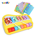 Kid Educational Toy Plastic Music Instrument Toys Xylophone Hand Knock Piano Learing Fun Toy