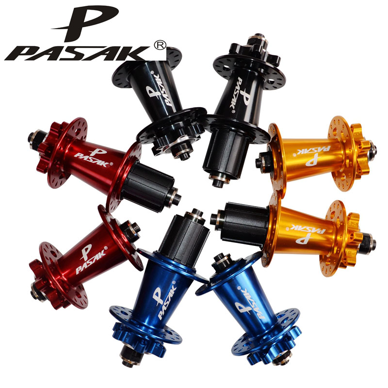PASAK MTB Mountain bike front 2 rear 4 sealed bearing Hub 32H Disc Brake Quick Release Bicycle Hubs chosen 4 sealed bearings hub 32h mountain mtb road bike disc brake hubs set 652g