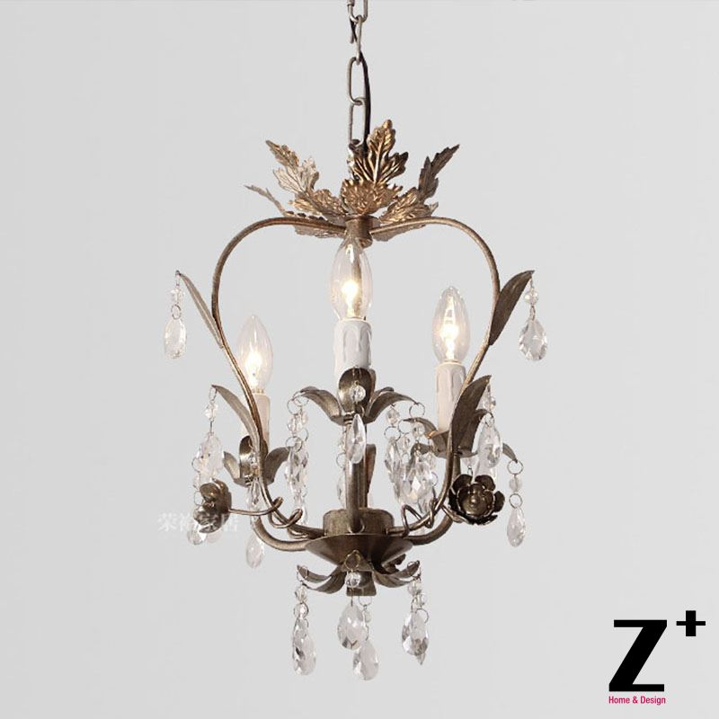 Us 269 99 K9 Crystal Palais Iron Leaf Pendant Light Body French Vintage Country Style Restaurant Dinning Room Free Shipping In Lights