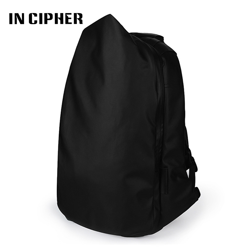 [In Cipher] Oxford Laptop Backpack Solid Black Men Bag Fashion Teenagers School Backpack Unisex Design Casual Travel Backpacks 2017 senkey style new fashion casual backpack men travel computer laptop backpacks high quality for teenagers student school bag
