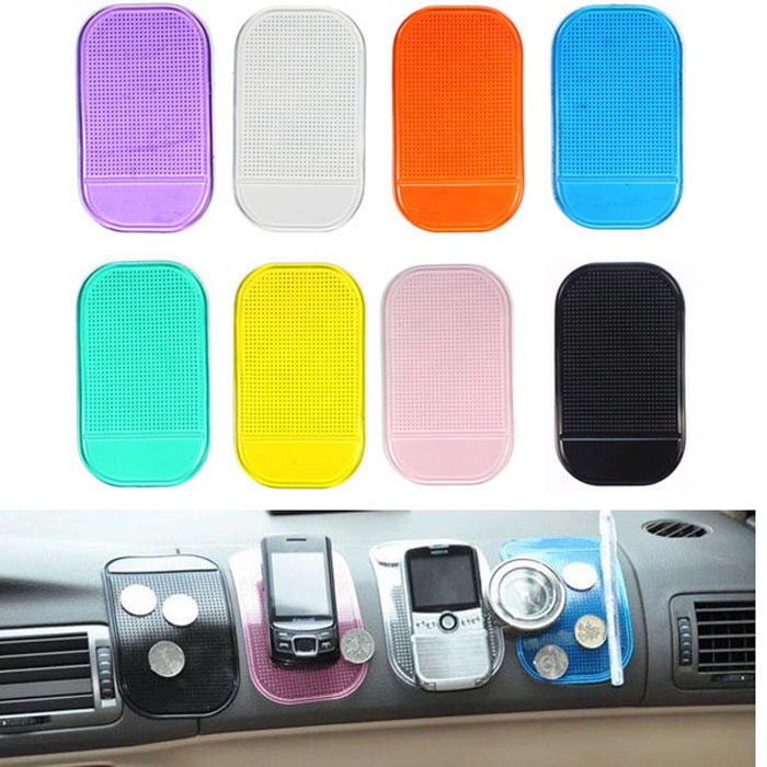 2017 car interior accessories magic anti slip reusable dashboard sticky pad non slip mat holder. Black Bedroom Furniture Sets. Home Design Ideas