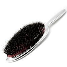 Висококачествена чиста козина четка за коса антистатичен салон овална четка за коса с четка за въздушна възглавница гребен в сребро и злато