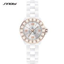SINOBI 2017 Mens Women Ceramic Watch Fashion Couple Watches Male Quartz Wrist Watches Relojes Mujer Clock Relogios Femininos F65